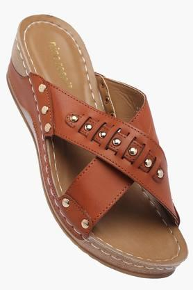 VENTURINIWomens Daily Wear Slipon Wedge Sandals