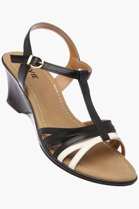 LAVIEWomens Casual Wear Buckle Closure Wedges