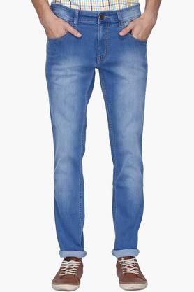 RS BY ROCKY STAR Mens 5 Pocket Heavy Wash Jeans
