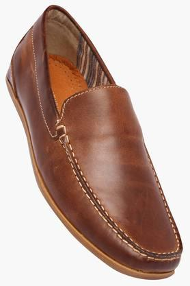 VENTURINI Mens Leather Slipon Loafers - 202391367