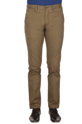 LOUIS PHILIPPE SPORTS Mens Flat Front Slim Fit Solid Chinos - 9962692