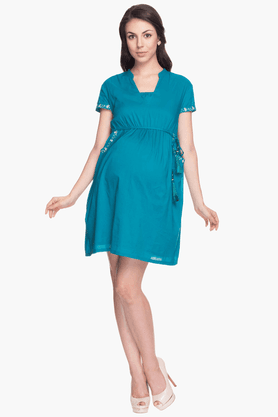 NINE MATERNITY Womens Comfort Fit Solid Dress - 201346605