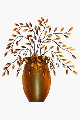 MALHAR Wrought Iron Flower Vase Decorative Wall Plaque - 202344506