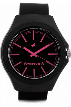 FASTRACK Fastrack Black/Pink Dial Unisex Analog Watch - 38004PP05