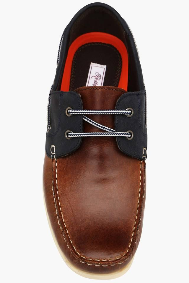 Mens Suede Lace Up Boat Shoes