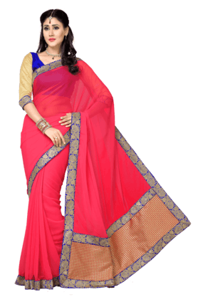DEMARCA Womens Printed Saree (Buy Any Demarca Product & Get A Pair Of Matching Earrings Free) - 200946926