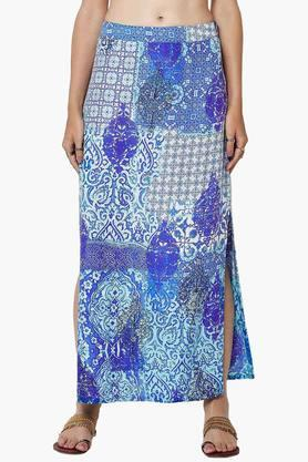 GLOBAL DESI Womens Printed Skirt