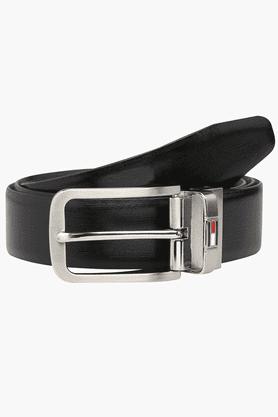 TOMMY HILFIGERMens Leather Formal Reversible Belt