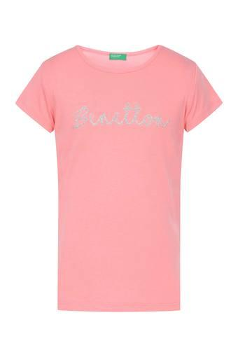 UNITED COLORS OF BENETTON -  Pink Topwear - Main