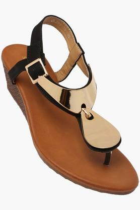 SOLOVOGA Womens Casual Wear Buckle Closure Sandals  ... - 202223356
