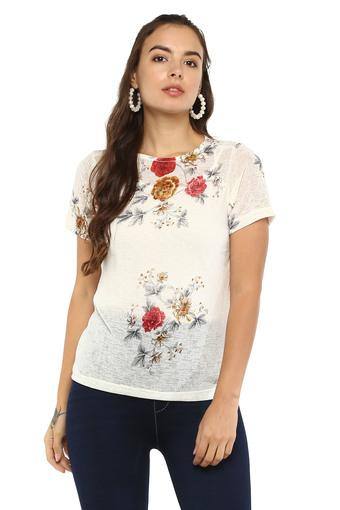 ALLEN SOLLY -  White Tops & Tees - Main