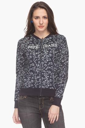 PEPEWomens Casual Floral Print Sweatshirt