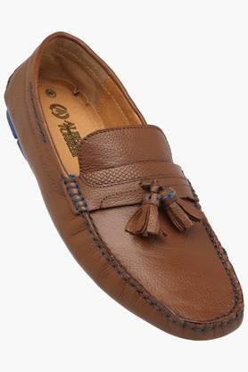 ALBERTO TORRESI Mens Leather Slip On Moccasins  ... - 202166327