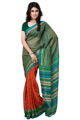 DEMARCA De Marca Multicolor Art Silk Designer DF-512D Saree