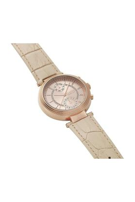 Womens Champagne Dial Leather Multi-Function Watch - S79100017