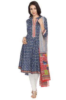 BIBA Womens Printed Salwar, Kurta And Dupatta Set - 200737261