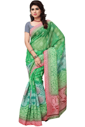 DEMARCA De Marca Green Art Silk Designer DF-530C Saree