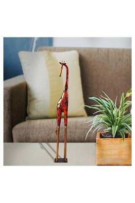 MALHAR Decorative Wrought Iron Giraffe Artifact Show Piece - 201734025