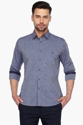 Van Heusen Sport Formal Shirts (Men's) - Mens Full Sleeves Casual Printed Shirt