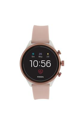 Womens Sport Black Dial Silicone Smart Watch - FTW6022