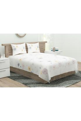 Floral Printed King Bed Sheet with Pillow Cover