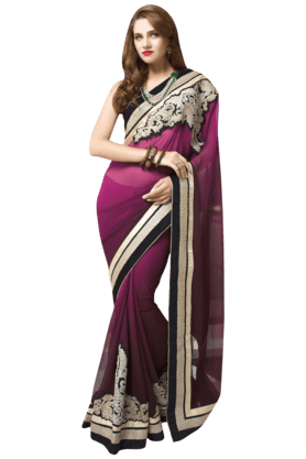 DEMARCA Women Faux Georgette Saree
