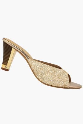 Womens Ethnic Slipon Heel Sandal