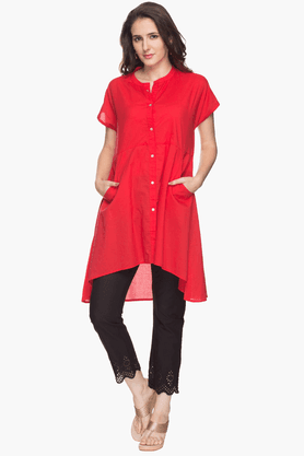 STOP Womens Mandarin Neck Shirt Kurta