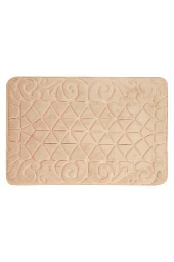 Rectangular Solid Memory Foam Pebbles Bath Mat