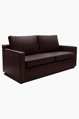 Wine Red Leatherette Sofa (3 - Seater)