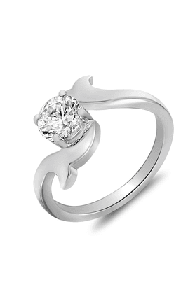MAHI Mahi Rhodium Plated Glam Star Solitaire Ring With Swarovski Zirconia For Women FR1105023R