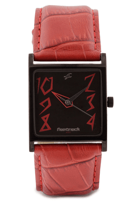 FASTRACK Ladies Watch With Red Leather Strap - NE9735NL01A