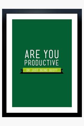 CRUDE AREA Multi Colour Are You Productive Printed Paper Poster  ...
