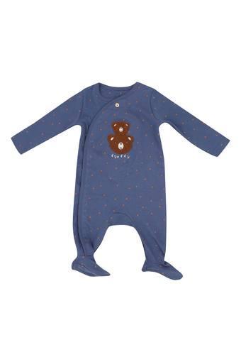Kids V Neck Patch Work Babysuit