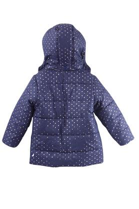 Girls Hooded Neck Printed Quilted jacket