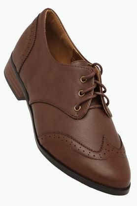 Womens Leather Lace Up Oxford Shoes
