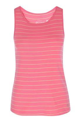 Womens Round Neck Striped Tank Top