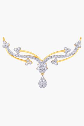 MALABAR GOLD AND DIAMONDSWomens 18 KT Gold And Diamond Tanmaniya - 201203866