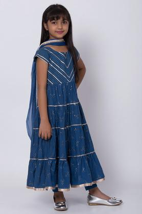 BIBA GIRLS - Blue Salwar Kurta Set - 3