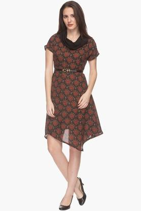 IMARA Womens Cowl Neck Printed Asymmetrical Tunic (Buy Worth Rs.2500 & Get Rs.500. Off)