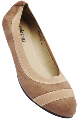 SOLOVOGA Womens Beige Slipon Ballerina Shoe