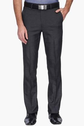 STOP Mens 4 Pocket Slub Formal Trousers