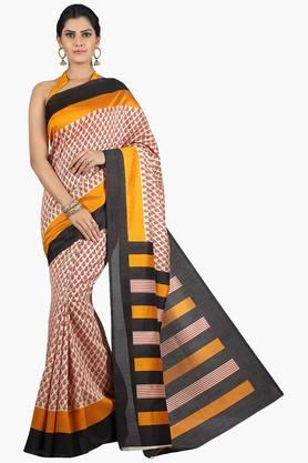 JASHNWomen Tussar Silk Printed Saree