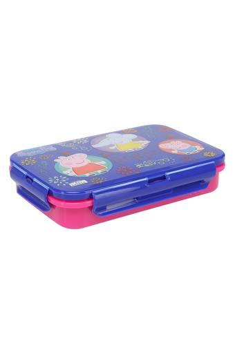 Unisex Rectangular Peppa and Friends Lunch Box - 450 ml