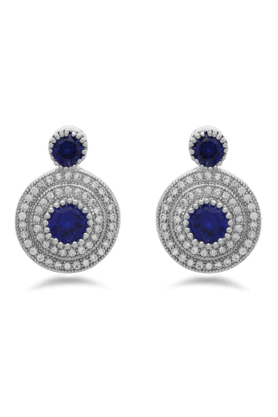 REAL EFFECT Embellished Circular Drop Earrings