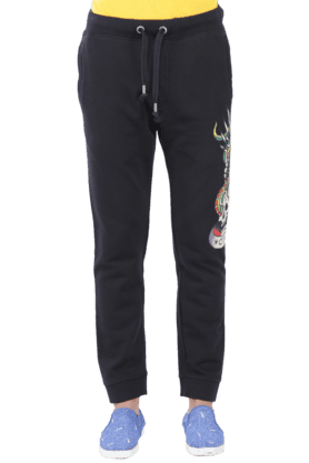 ED HARDY Mens 3 Pocket Slim Fit Printed Track Pant