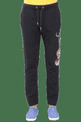 ED HARDYMens 3 Pocket Slim Fit Printed Track Pant