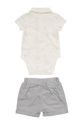 Kids Printed Babysuits and Shorts Set
