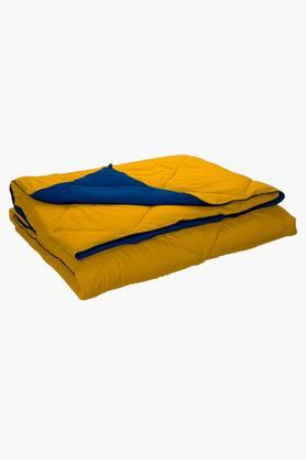 STOA PARIS Blue Yellow Reversible Microfiber Comforter (Comforter (Single)