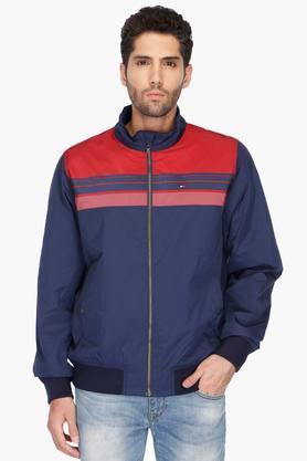 TOMMY HILFIGERMens High Neck Colour Block Jacket